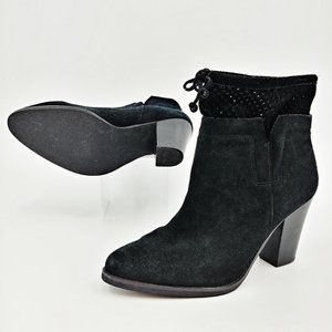 Crown Vintage Clifton Black Suede Ankle Boots